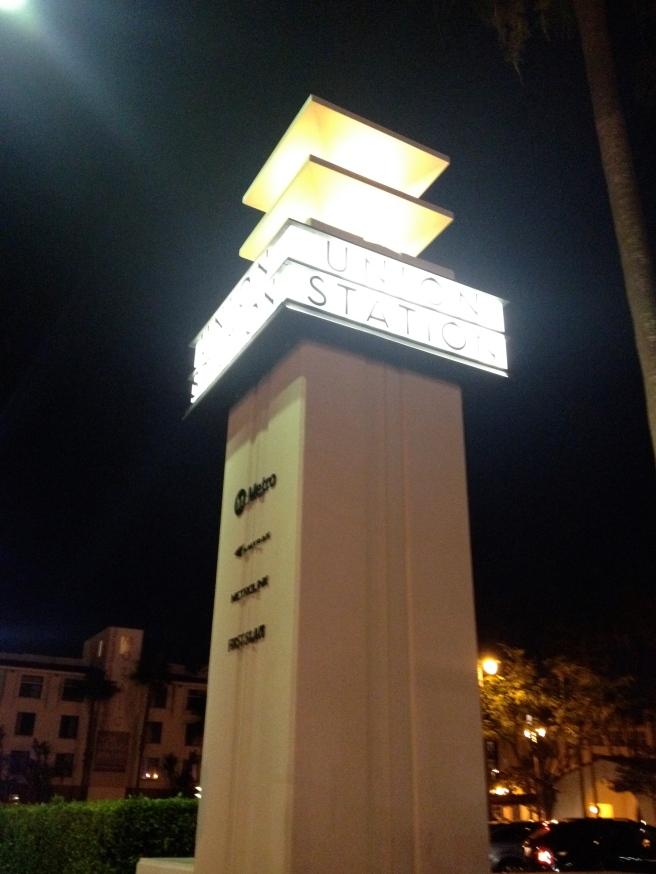 Night Outside Union Station